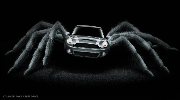 20 Examples of Great Halloween Advertising Inspiration - Mini Cooper - Halloween advertising - Halloween ads - advertising Halloween - Halloween advertising ideas - Halloween advertising campaigns
