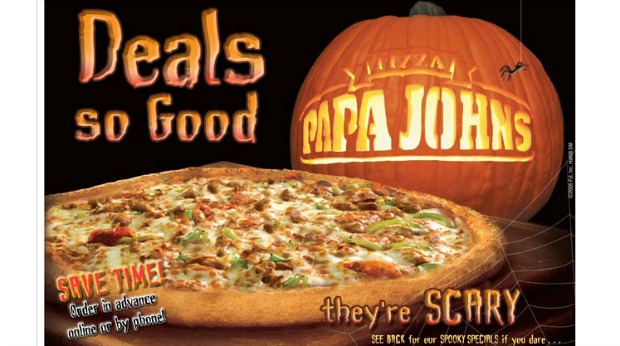 20 Examples of Great Halloween Advertising Inspiration - Papa John's - Halloween advertising - Halloween ads - advertising Halloween - Halloween advertising ideas - Halloween advertising campaigns