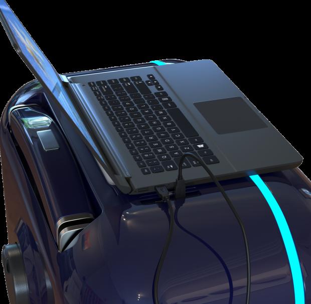 Travelmate Suitcase Robot - Portable Desk