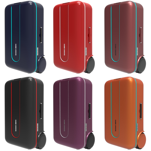 Travelmate Suitcase Robot Colors