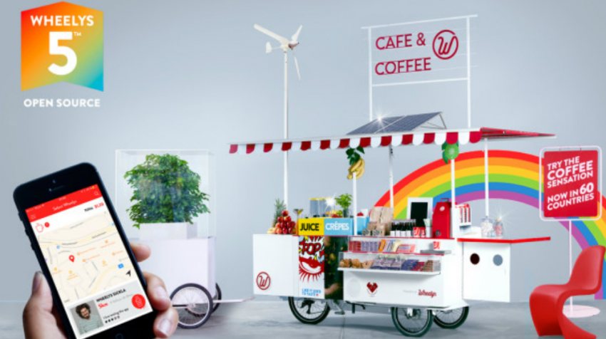 Wheelys Cafe is a Full Service Coffee Shop and Restaurant on a Bike