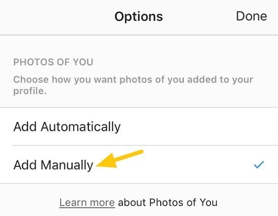 Get More Instagram Followers - Approve photo tags before the content shows on your profile