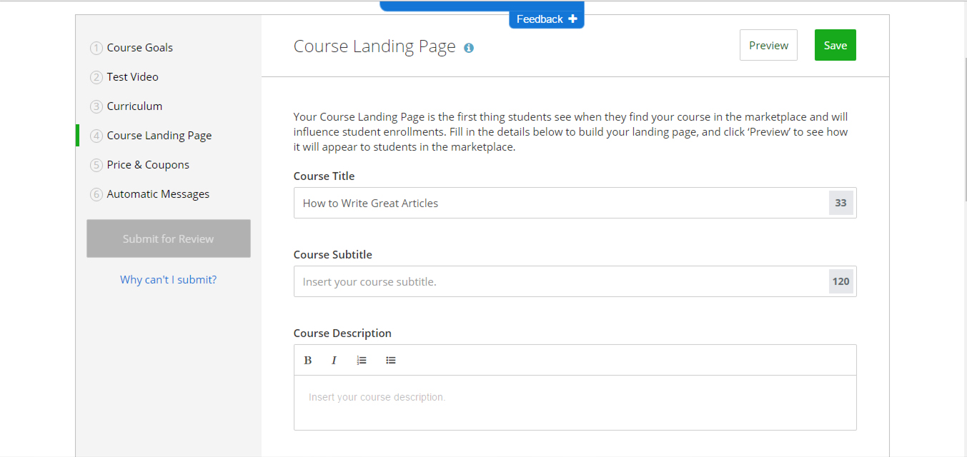What is Udemy And How Can I Use It For Business? Course Landing Page