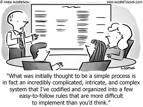 Simplify Business Cartoon