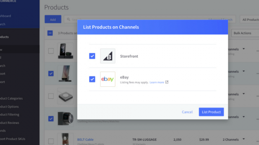A new BigCommerce integration with eBay will enable sellers to seamlessly manage eBay inventory and orders natively through their online store.