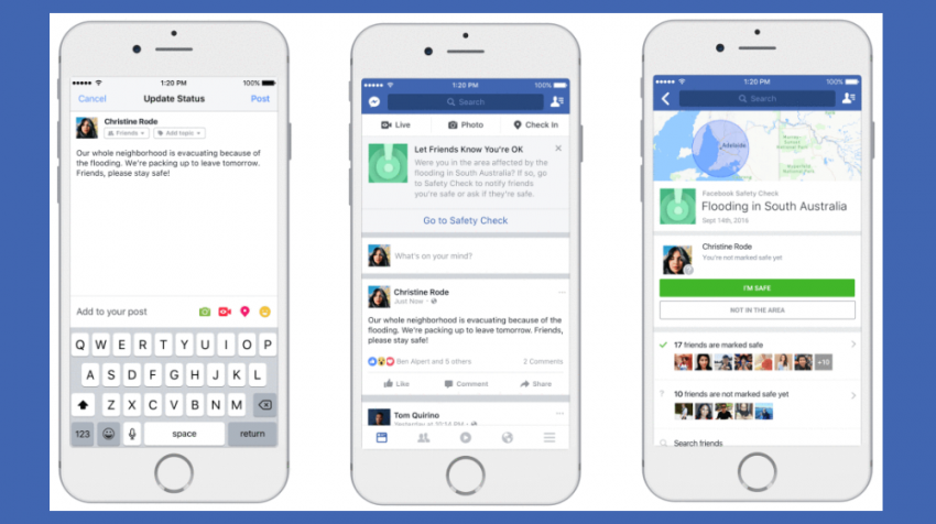 The new Facebook features for November 2016 include community help, safety check, an expanded fundraiser features, and nonprofit partnerships.