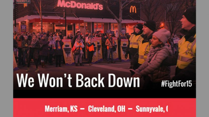 Today marks a national day of minimum wage protests and low-wage workers seeking a bump to $15 an hour are turning out in droves.