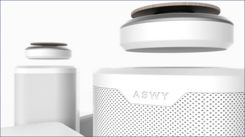 No only does it levitate, the 720-degree SPACO speaker has smart technology integrated into the system so you can control it with your voice.