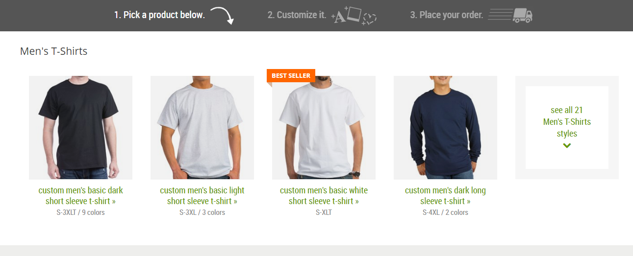 How to Create and Order CafePress T-Shirts for Your Small Business - Pick Your Color, Size and Design