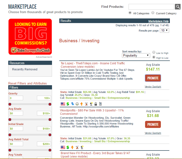 How to Use ClickBank Affiliate Marketing - Choosing Products