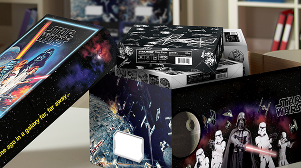 """""""Ruling the Galaxy requires some paperwork,"""" says Quill.com which showed off its innovative spirit by rolling out this new Star Wars paper and reusable box."""