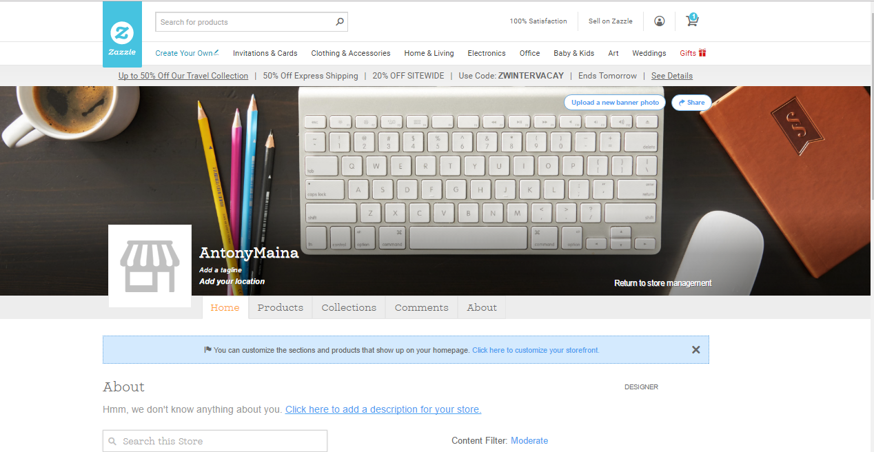 How to Create a Zazzle Store - View Public Storefront