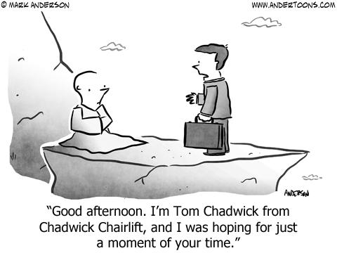 Target Market Business Cartoon