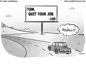 Sign from God Cartoon
