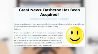 On the brink, FreshLime buys Dasheroo, giving the dashboard company a reprieve following its recent shutdown announcement.