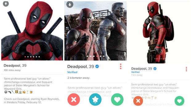 Best Viral Campaigns of 2016 - Deadpool on Tinder