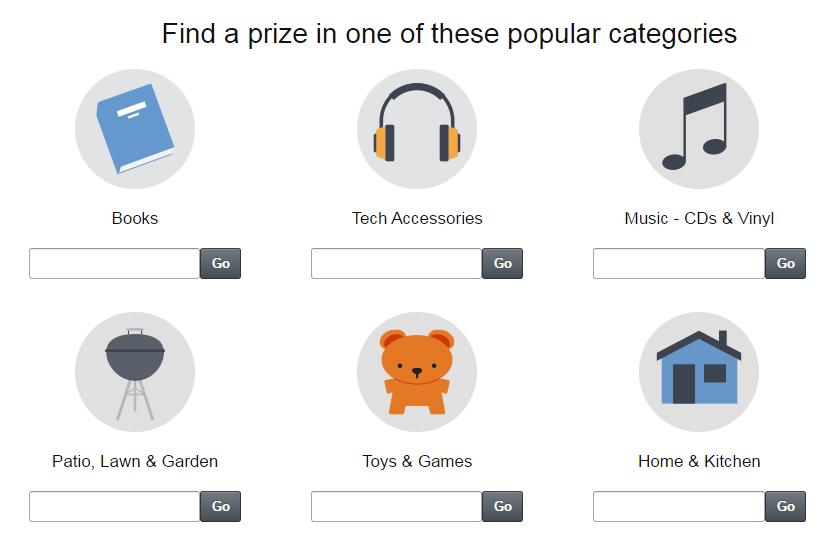 Amazon Giveaways - Eligible Products