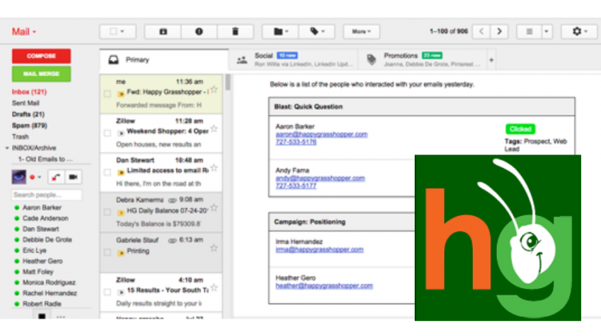 Happy Grasshopper Delivers Customized Email Followup