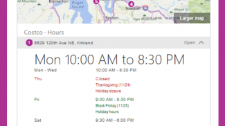 According to Bing, it's collaborating with businesses to provide consumers with real-time holiday hours. Bing includes holiday hours on business listings.