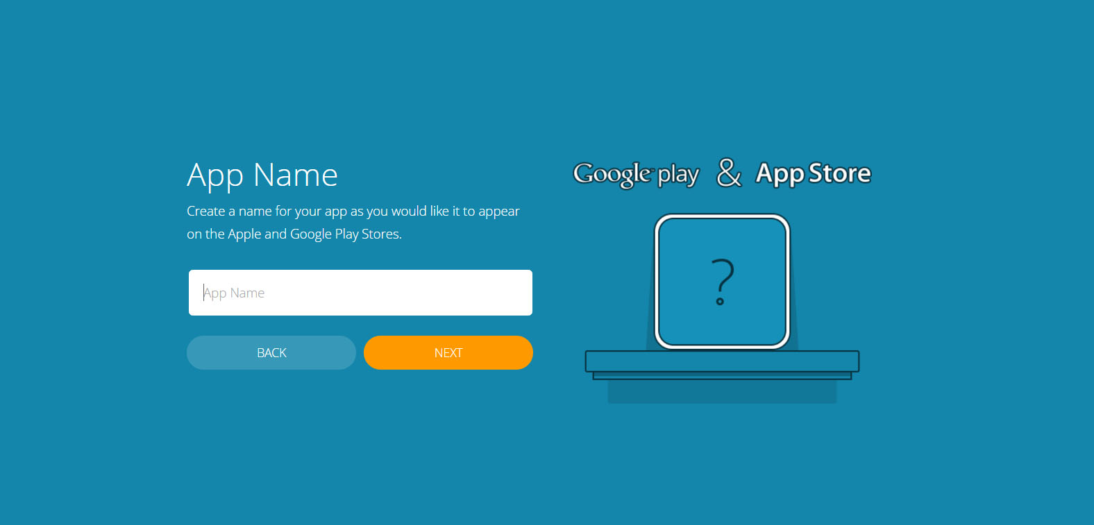 How to Build Your Own App Using Bizness Apps - Name Your App