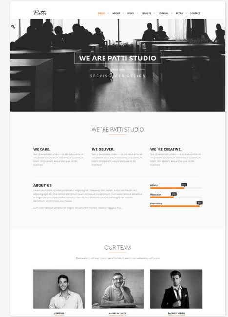 50 One Page Website Templates for Your Business - Patti