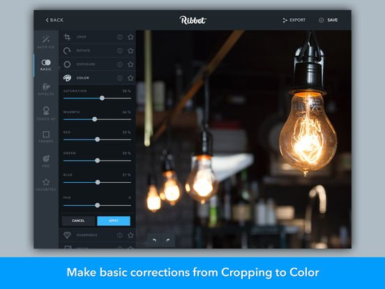 Desktop Photo Editing Tools - Ribbet