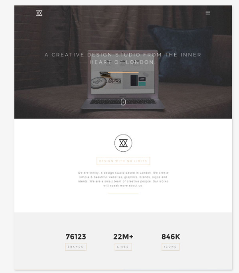 50 One Page Website Templates for Your Business - TRINITY