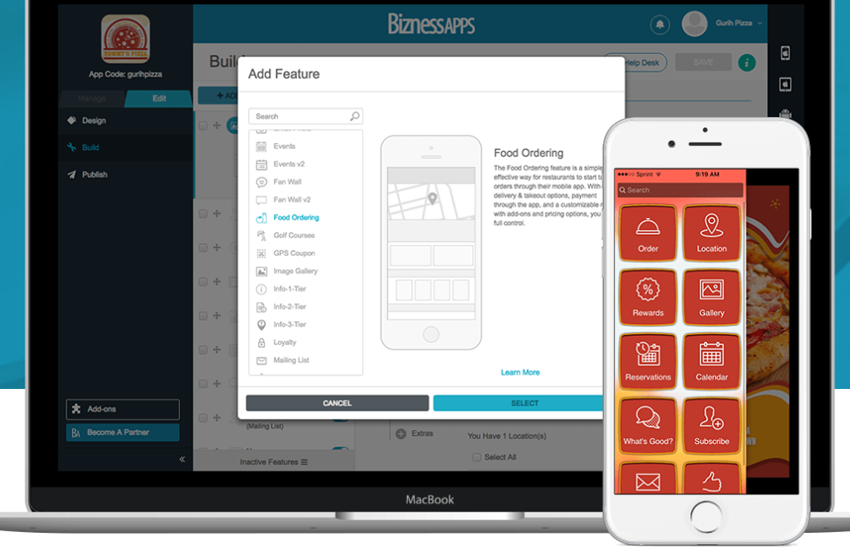 How to Build Your Own App Using Bizness Apps - Add Features