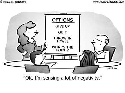 Negativity Business Cartoon