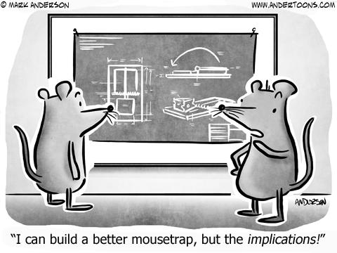 Mousetrap Business Cartoon