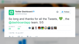 Twitter is shutting down its Dashboard app. This feature was specifically aimed at business users, but could not gain enough traction.