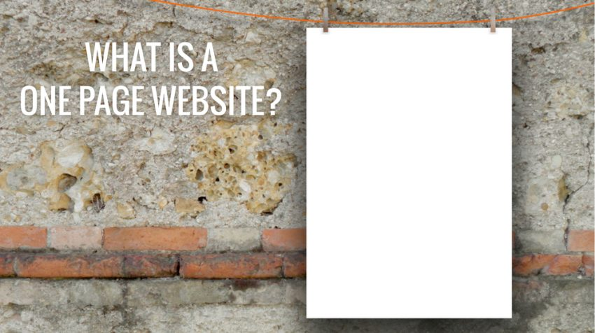 What is a One Page Website and How Do I Use it for Business?