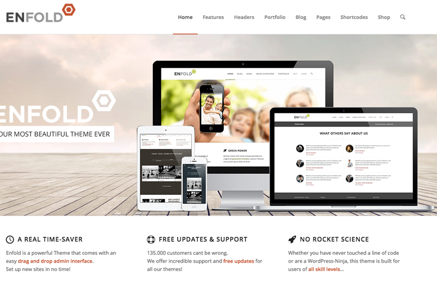 10 Most Popular WordPress Themes - Enfold