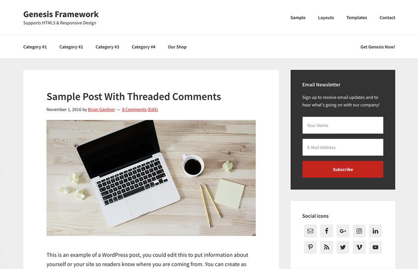 10 Most Popular WordPress Themes - Genesis Framework
