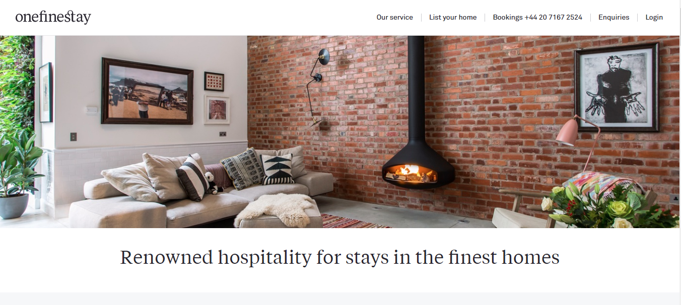 Gig Websites - OneFineStay