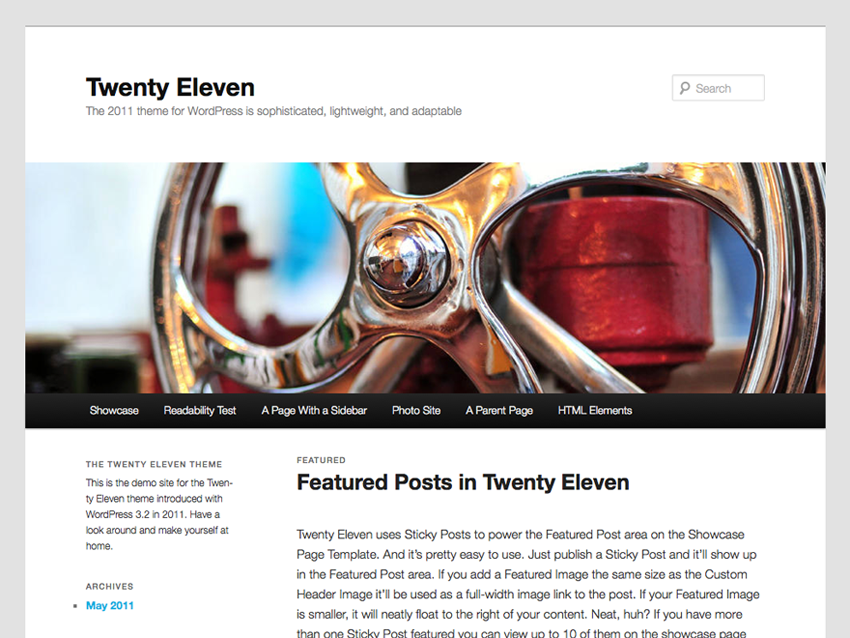 10 Most Popular WordPress Themes - Twenty Eleven