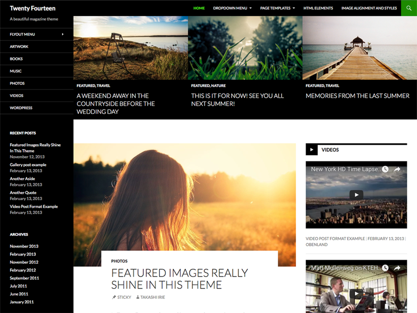 10 Most Popular WordPress Themes - Twenty Fourteen