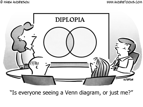 Double Vision Business Cartoon