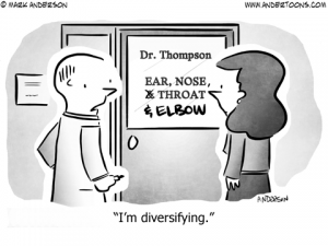 Diversifying Business Cartoon