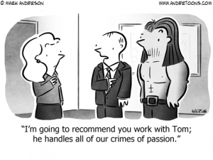 Crimes of Passion Business Cartoon