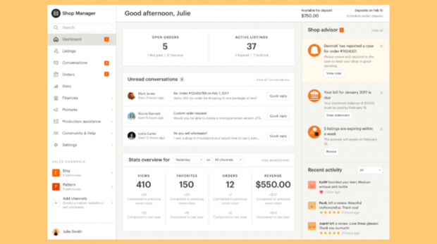 The new Etsy Shop Manager is aiming to give sellers a cleaner and more organized interface for running that part of their business.