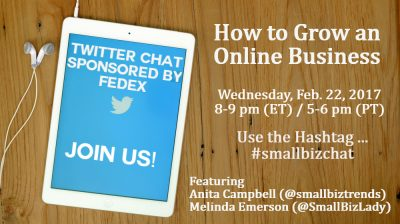 Interested in learning about all the ins and outs of how to grow an online business? Then join the FedEx Twitter chat on February 22 from 8-9 P.M. EST.