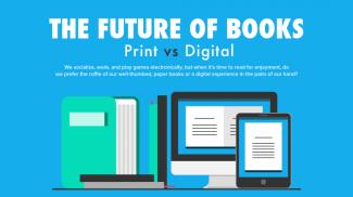 The Future of Books: Printed Books vs Ebooks Infographic