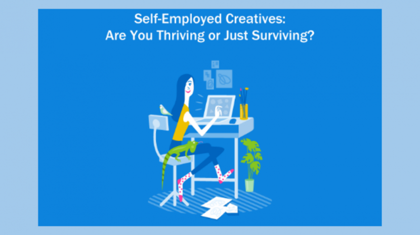 A newly released study from FreshBooks reveals that creatives who are self-employed make more money than their salaried counterparts with full time jobs.
