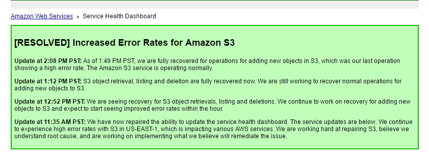 Discover How the impact of the Amazon Web Services Outage Affected Small Businesses