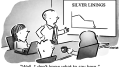 Silver Lining Business Cartoon