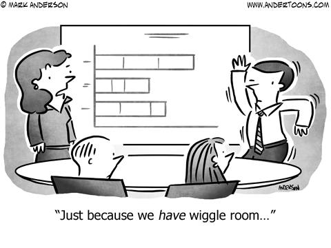 Wiggle Room Business Cartoon