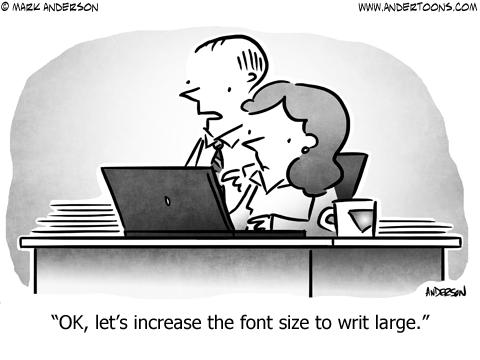 Font Business Cartoon