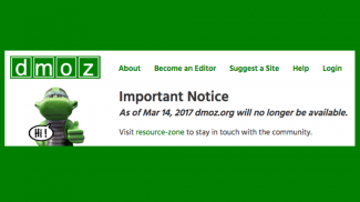 DMOZ aka The Open Directory Project Is Closing is Closing Its Doors on March 14