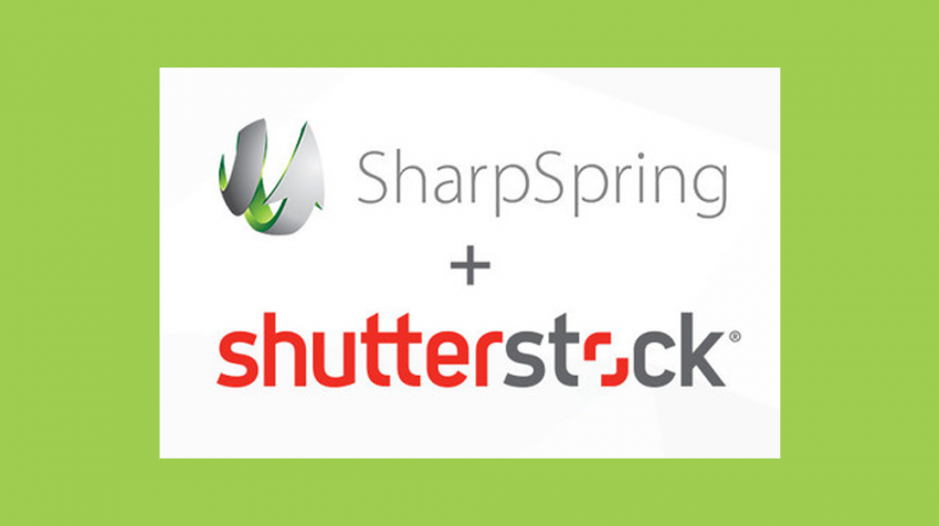 As of today, the marketing automation provider SharpSpring has integrated Shutterstock so users can access the more than 125 million images seamlessly